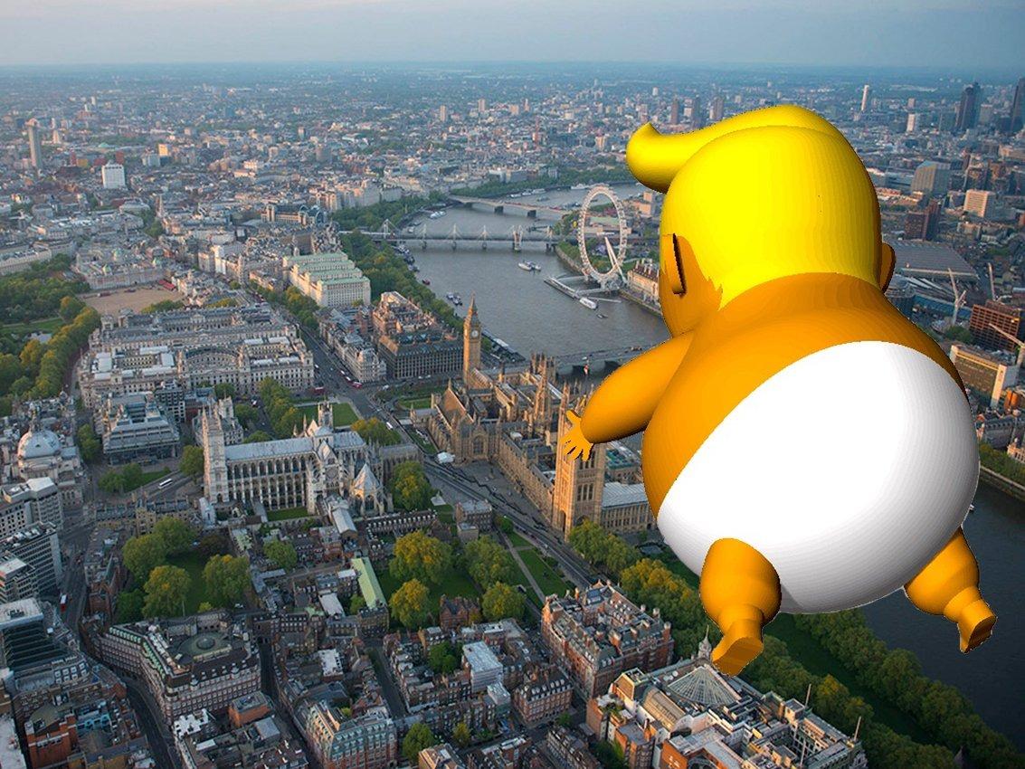 Пролететь над Лондоном и наг…
