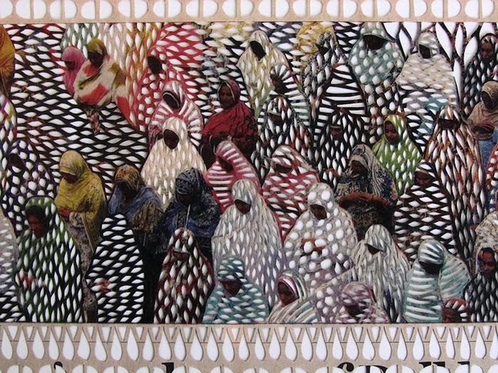 Дион использует иллюстрации, фотографии, модульные сетки и цветовые схемы разворотов как часть своих композиций.