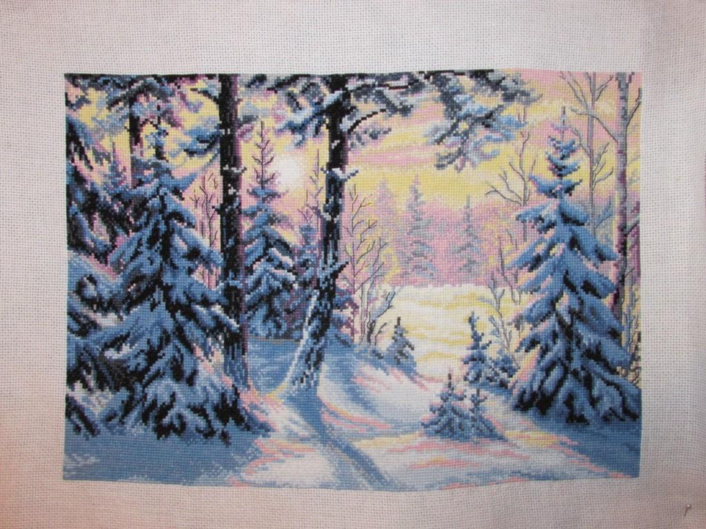 Зимний лес. Овен