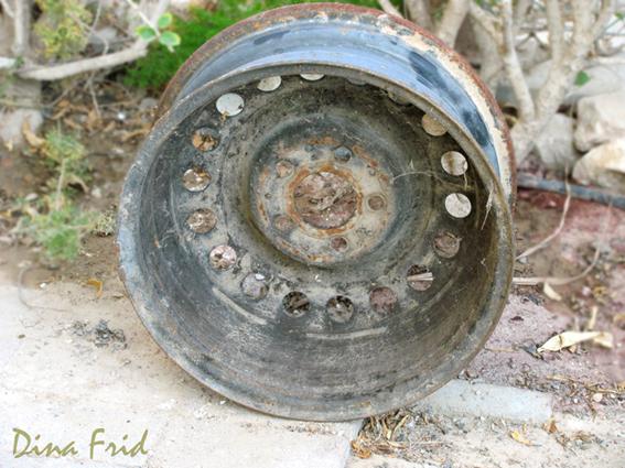 Старый обод колеса в дело!