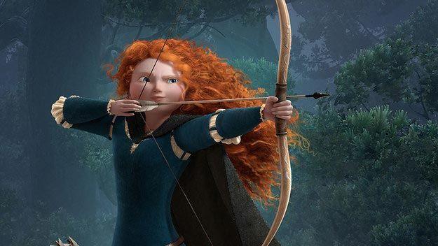 """Игривая рыжая принцесса Мерида из """"Храбрая сердцем"""" девушка, дисней, макияж, превращение"""