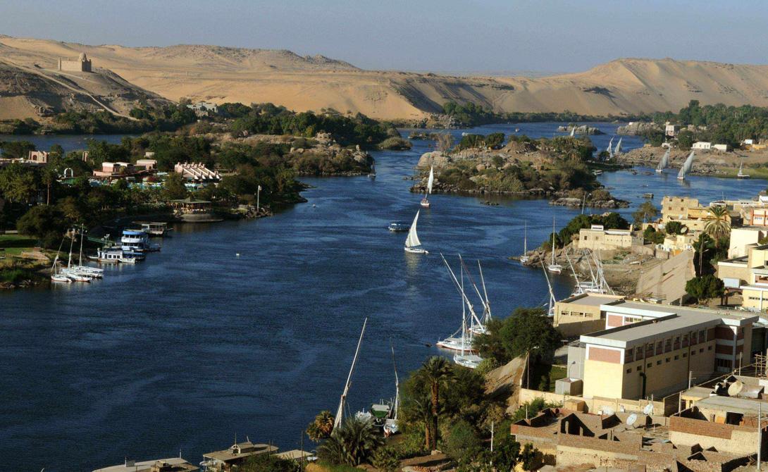 Нил  Африка 6 695 километров Пронзая десятки стран, Нил является самой длинной рекой в мире. Из окон круизного лайнера удачливый путешественник увидит места, где когда-то жила сама Клеопатра.