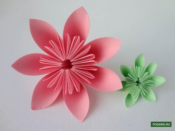 Цветы-оригами избумаги