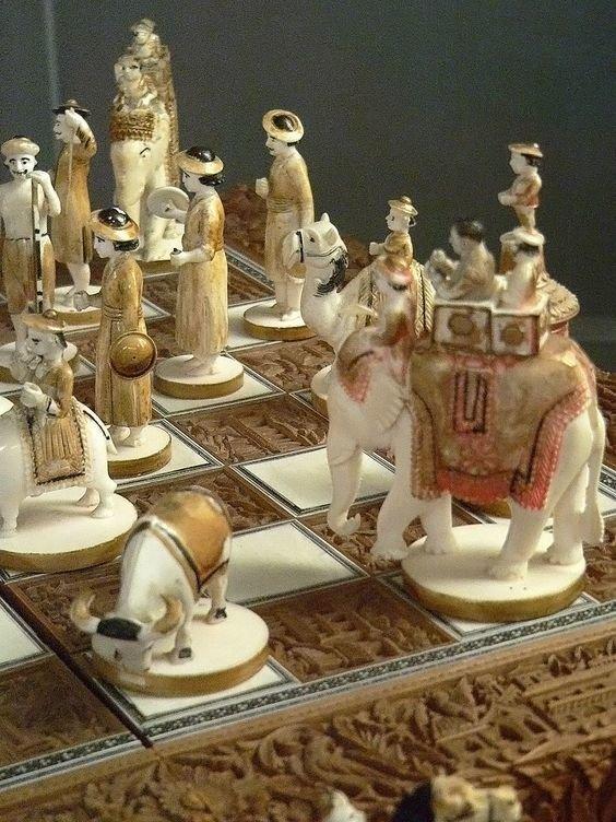 """Шахматы """"Восточные"""", 19 век, кость искусство, красота, мастерство, невероятное, талант, шахматы"""