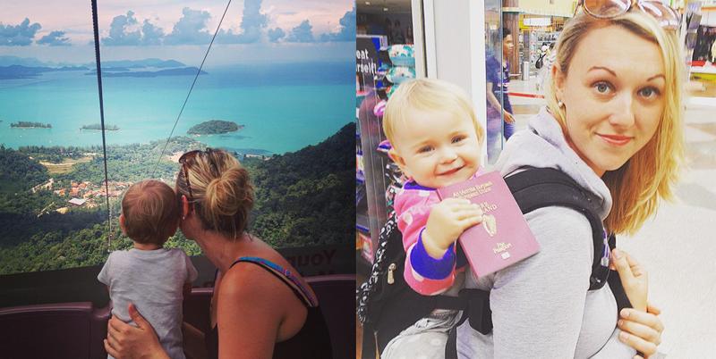 Годовалая малышка путешеству…