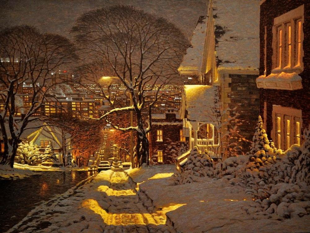 15 картин, наполненных уютом зимнего вечера
