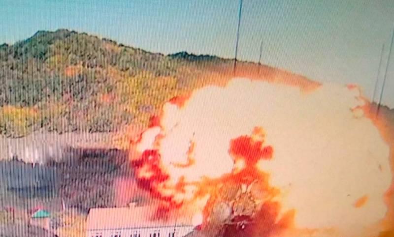Опубликованы кадры уничтожения армянских С-300 с камер наружного наблюдения