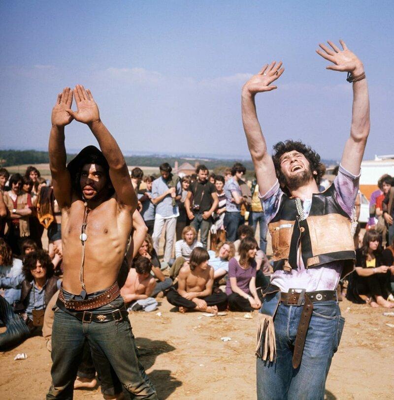 Фестиваль Isle of Wight, 1969 год. Фото: Keystone / Getty Images. интересное/. фотографии, история, хиппи