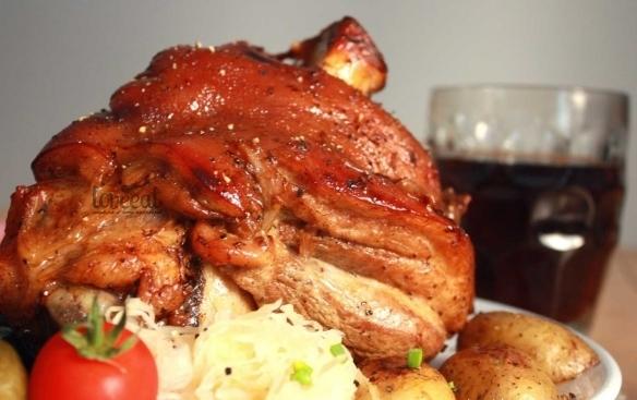рецепт запекания свинной рульки