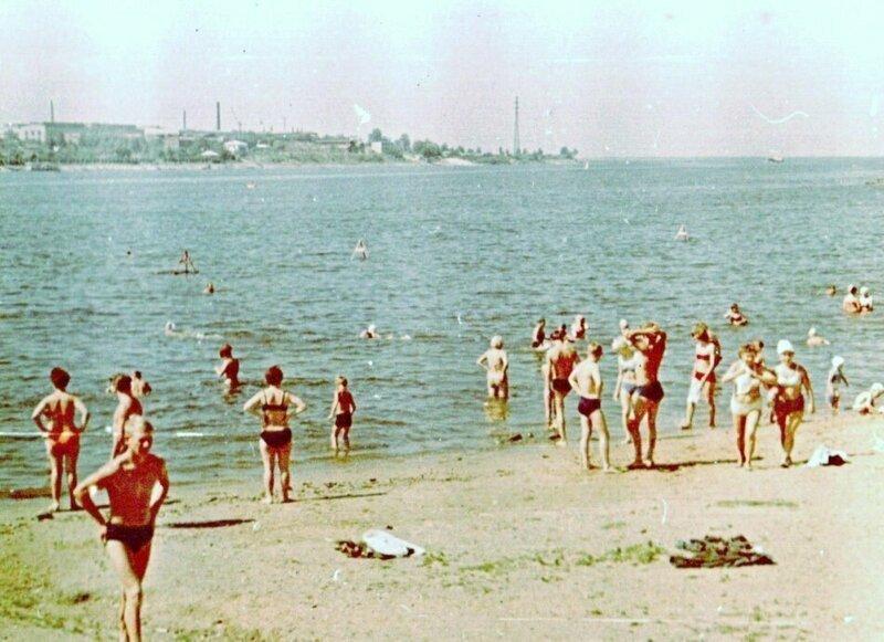 Кострома СССР, пляж, ретроспектива