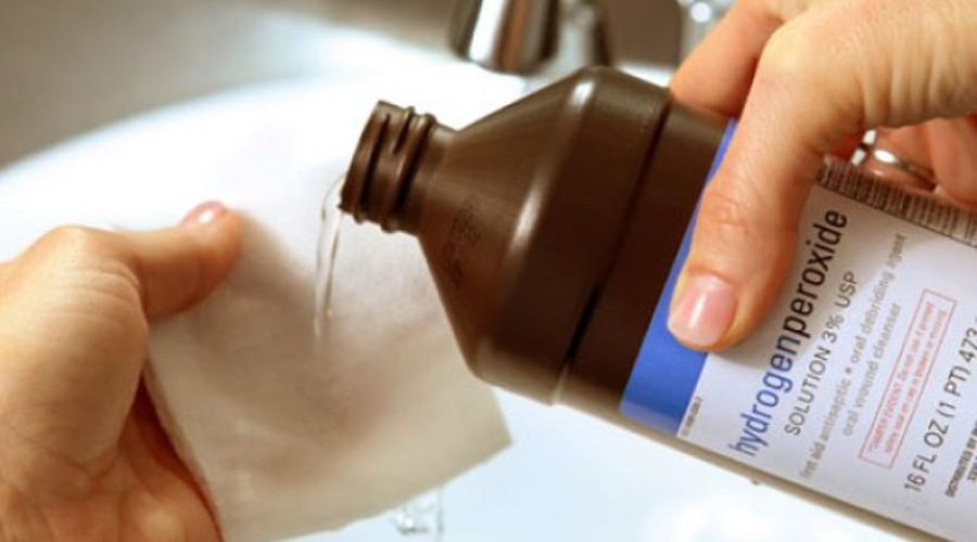 Использование перекиси водорода в быту
