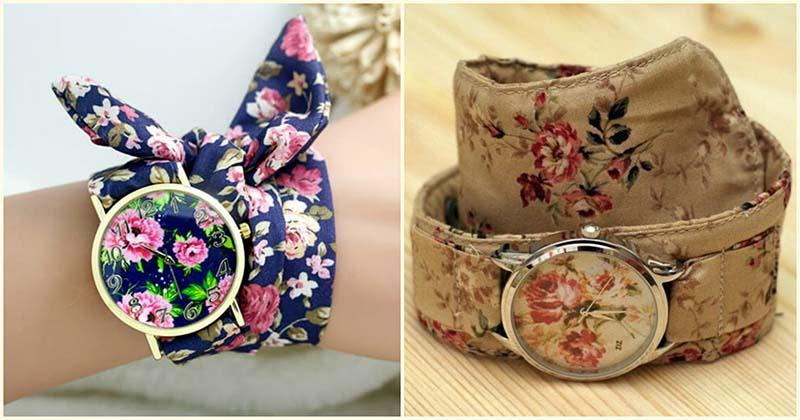 Превратите обыкновенные часы в дизайнерские при помощи кусочка ткани