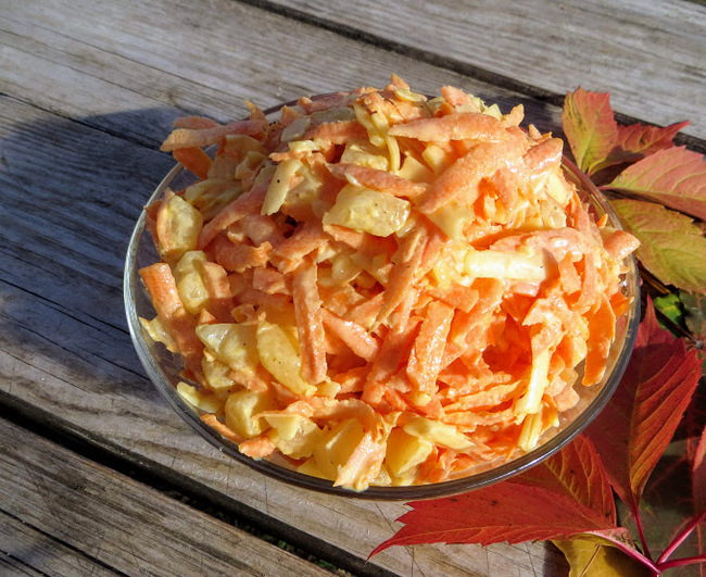 Морковный салат с ананасами за 5 минут! Еда, Салат, Вкусно, Просто, Быстро, Морковь, Ананас, Видео рецепт, Видео