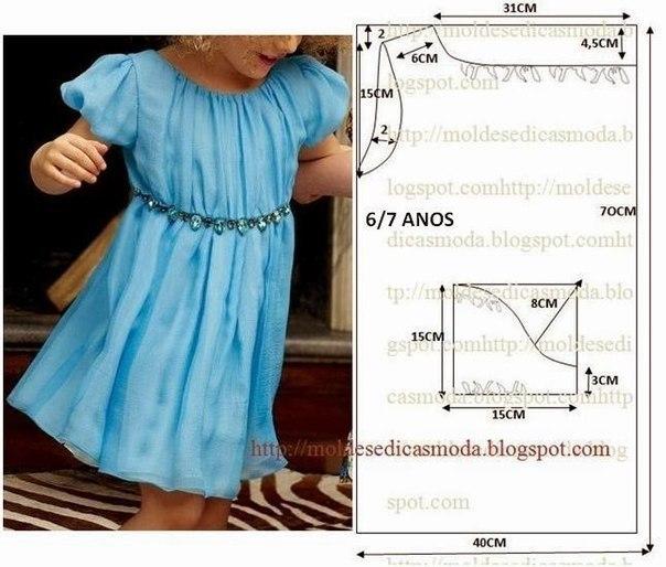 Выкройки красивых платьев для девочек