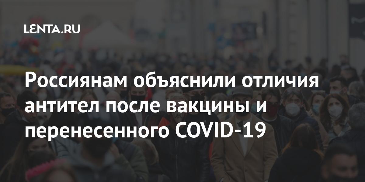 Россиянам объяснили отличия антител после вакцины и перенесенного COVID-19 Россия