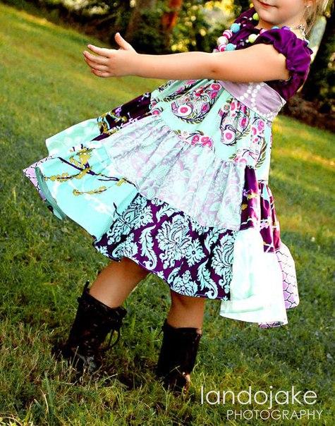 Детские платья в технике лоскутного шитья. Идеи.