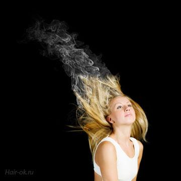 Восстановление сожженных волос