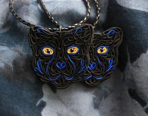 Необычные украшения из полимерной глины от Liskaflower (18 фото)