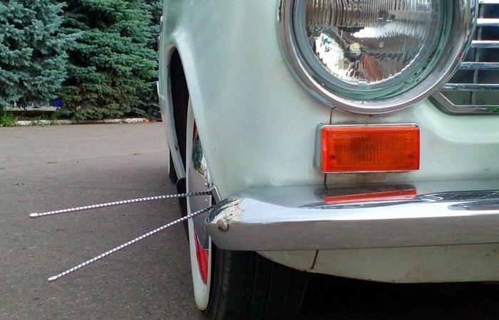 Зачем нужны были «усы» на бампере старых авто