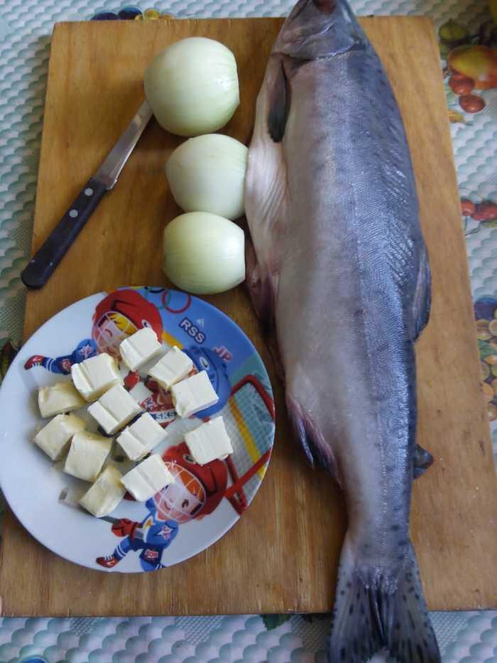 Горбуша на Коленке... Рыба, Длиннопост, Горбуша, Готовим дома, Еда, Рецепт