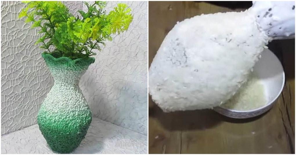 Нетривиальная переделка пластиковой бутылки. Ваши гости никогда не догадаются из чего сделана эта ваза