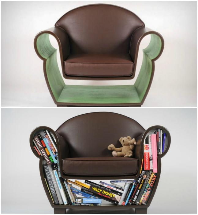 Кресло с полкой.