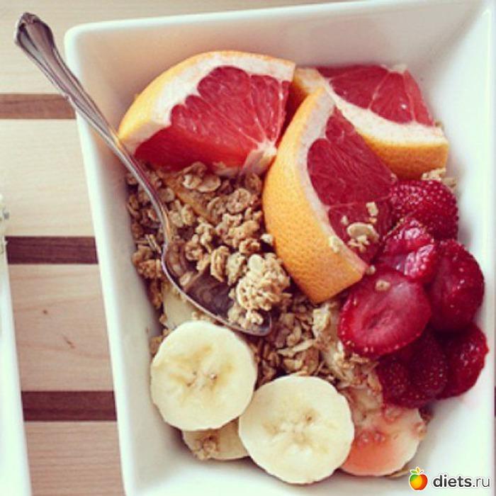 Лёгкий диетический завтрак.
