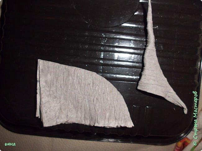 Мастер-класс Бумагопластика Кованая роза из туалетной бумаги Бумага Диски ватные Клей Краска Проволока фото 12