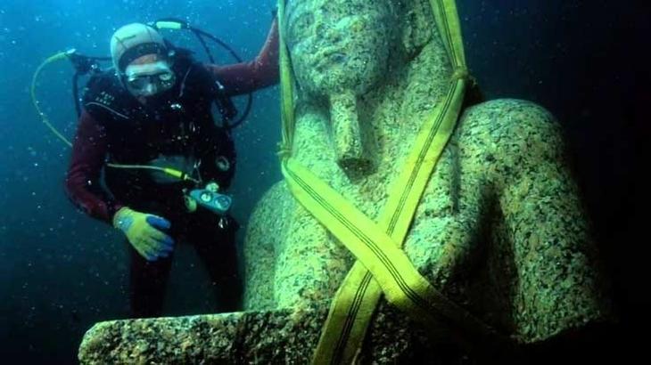 Забытый древнеегипетский город 1200 лет находится на дне моря