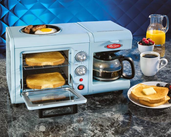 Компактное устройство для приготовления завтрака.