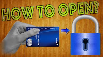 Как открыть замок пластиковой картой? Копия ключа своими руками