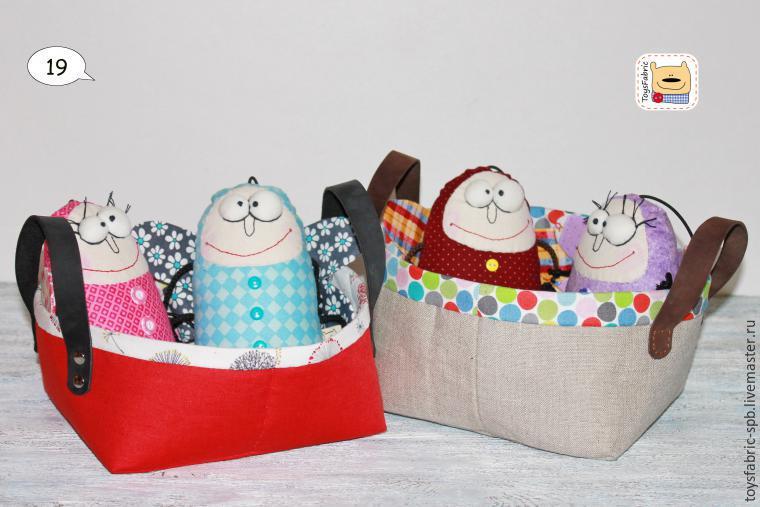 Текстильные корзинки для мелочей. МК