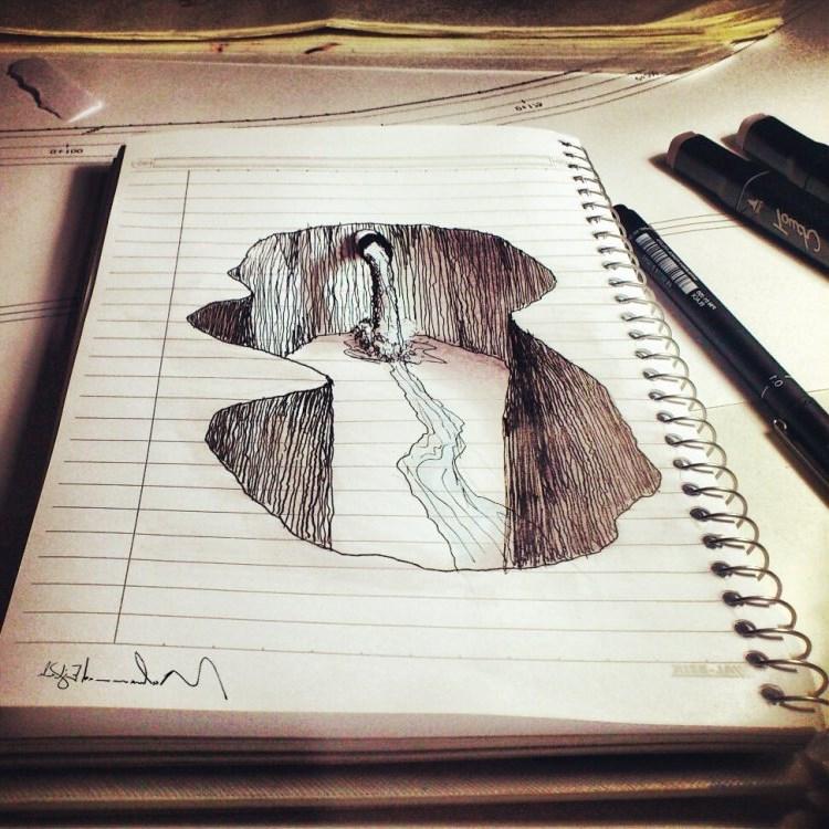 Прикольный рисунок 3 д карандашом для начинающих