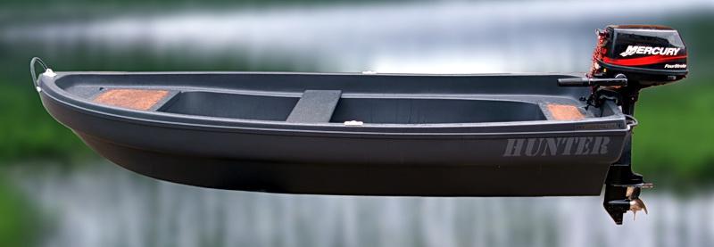 Гребно-моторная лодка для рыбалки и охоты HUNTER