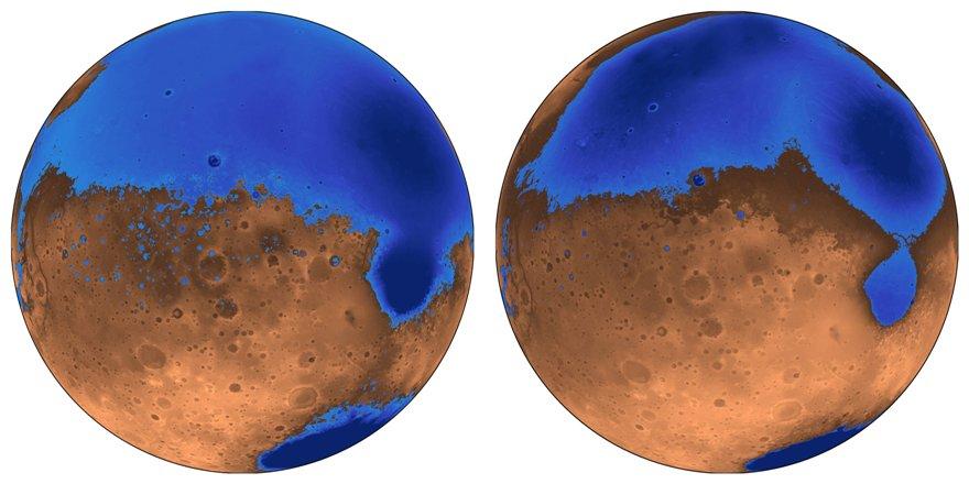 Марсианские океаны могли сформироваться рано