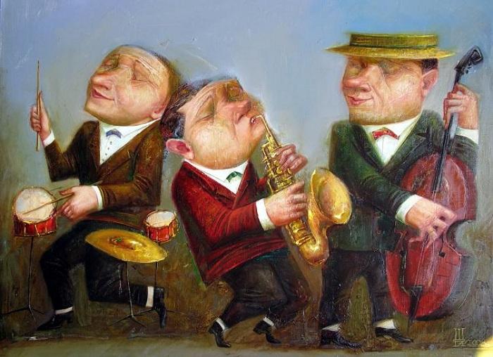 Особый стиль примитивных работ художника Геннадия Шлыкова, которые вызывают добрую улыбку