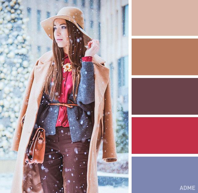 Цветовые сочетания в одежде на осень