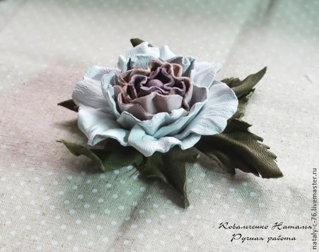 Как сделать цветок из кожи мастер класс 441