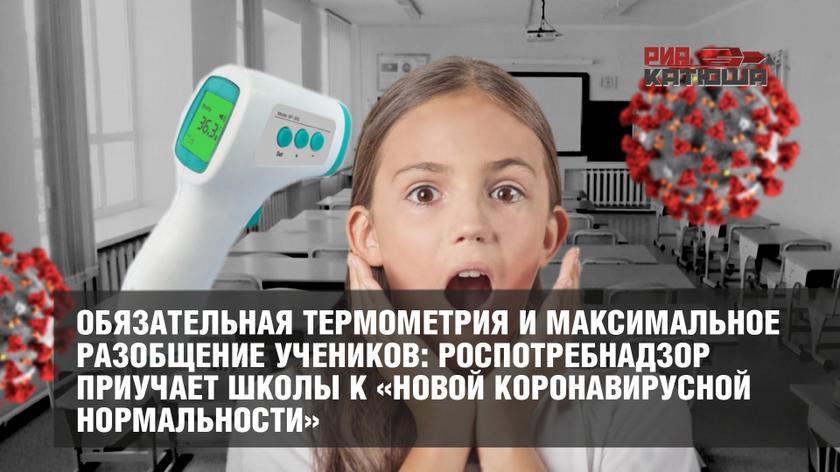 Обязательная термометрия и максимальное разобщение учеников: Роспотребнадзор приучает школы к «новой коронавирусной нормальности»