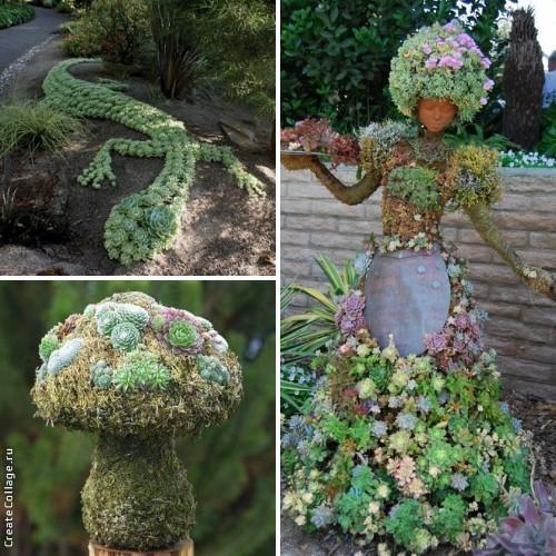 Садовые фигуры - от простых до сложных