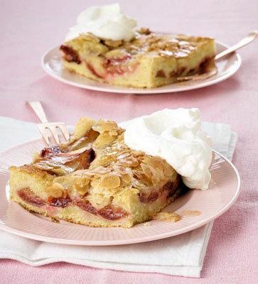 Легкий пирог со сливами: пирог-стаканник