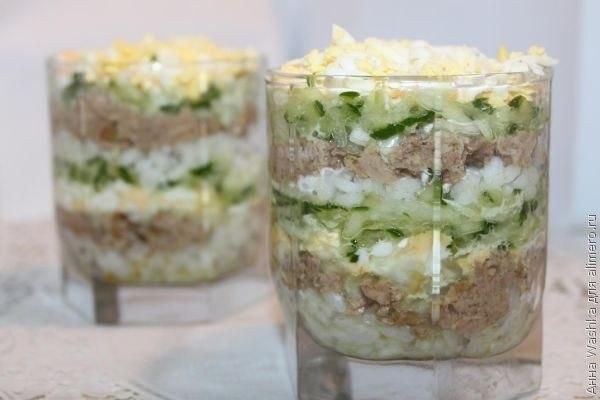 Фото к рецепту: Салат из печени трески