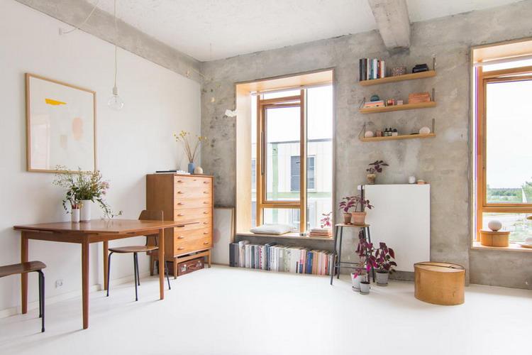 Маленькая студия датской студентки: максимальный простор всего на 25 кв. метрах интерьер и дизайн