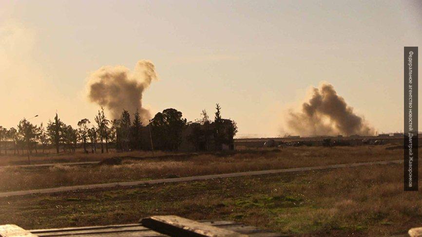 Прицельный удар: ВКС РФ разнесли базу террористов в районе Абу-Кемаля