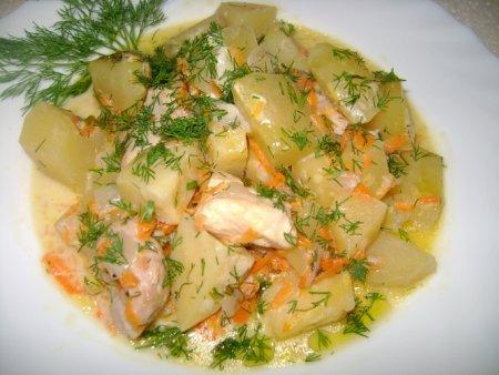 Курица тушеная картофелем рецепт фото