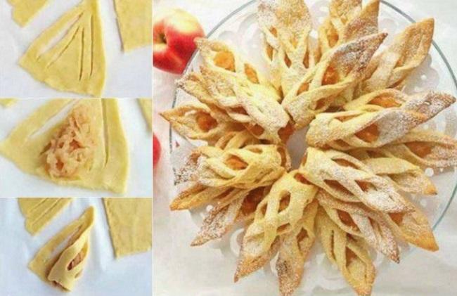 ажурная выпечка с яблоками