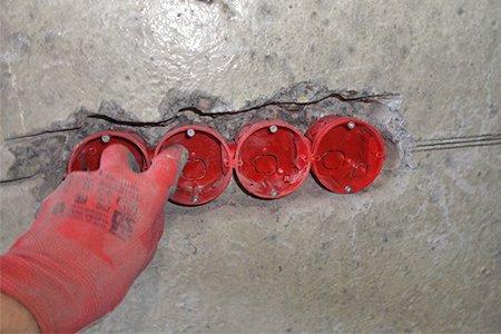 Монтаж розеток в гипсокартон 8 мм