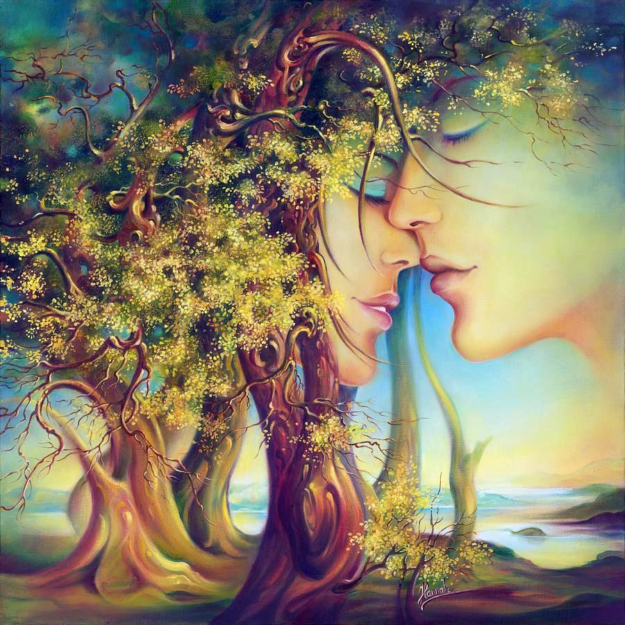 Дыхание замкнулось на тебе...  Польская художница Anna Ewa Miarczynska