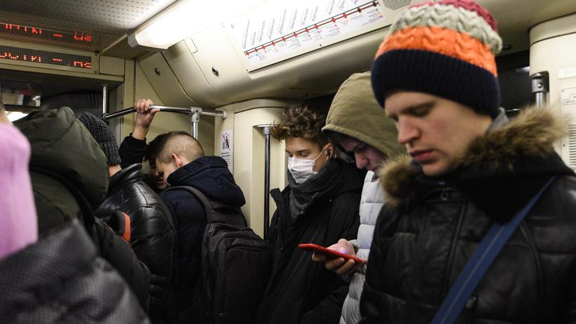 Пассажиропоток в московском метро сократился на 67%