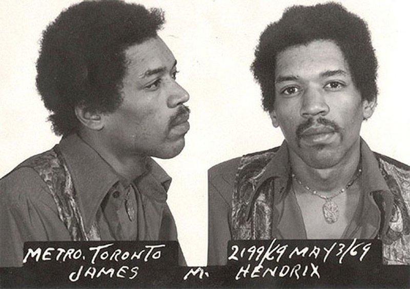 Джими Хендрикс. 1969 год. Перевозка гашиша и героина. арест, звезды, полиция, правонарушение